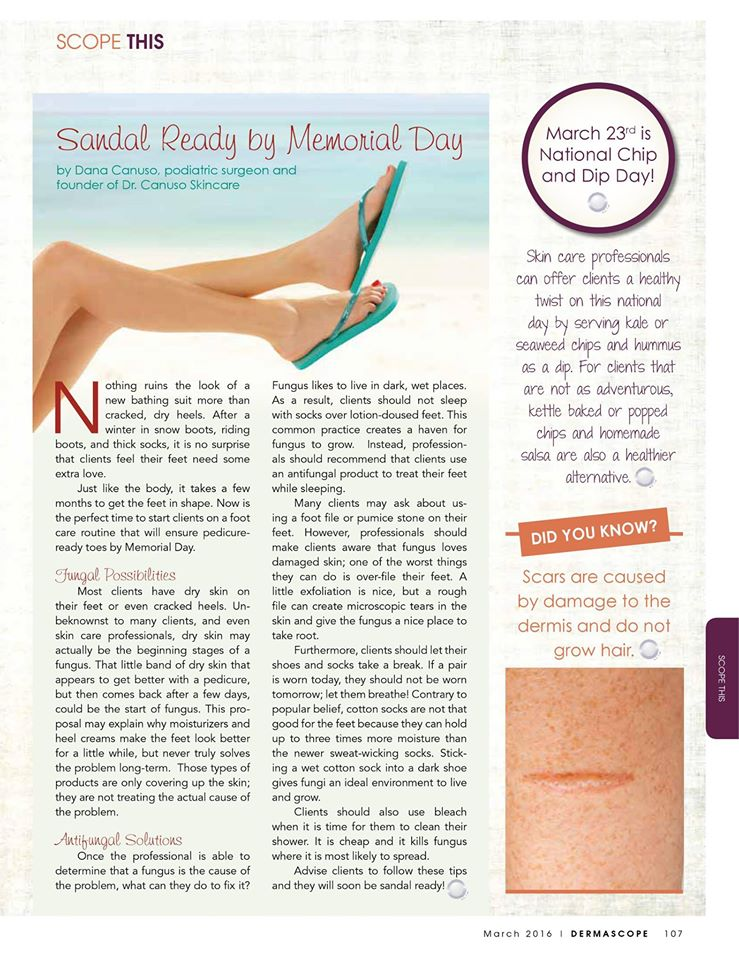 Sandal ready by Memorial Day article